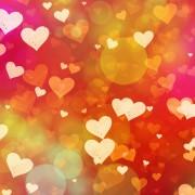 multicolored hearts background of Love symbol